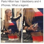Paris Hilton Has 1 Blackberry