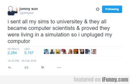 I Sent All My Sims To Universitey
