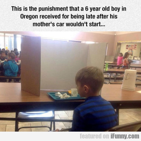 This Is The Punishment That A 6 Year Old Boy
