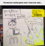 The Best Pre-owned Game Cover I Have Ever Seen...