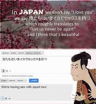 In Japan We Don't Say I Love You...