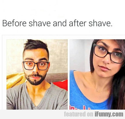 Before Shave And Aftershave...