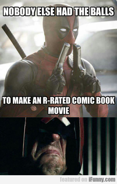 nobody had the balls to make an r-rated comic...