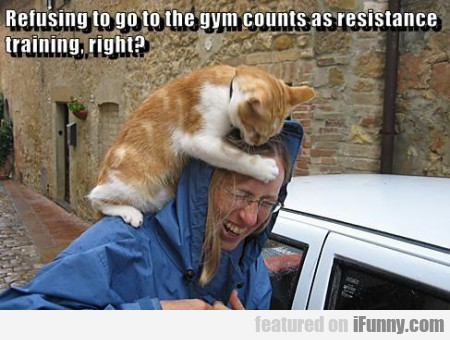 Refusing To Go To The Gym Counts As Resistance