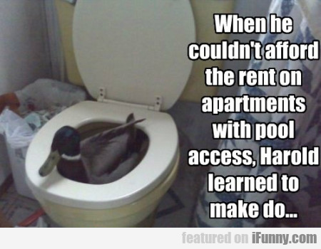 When He Couldnt Afford The Rent