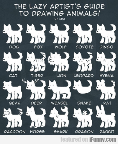The Lazy Artists Guie To Drawing Animals