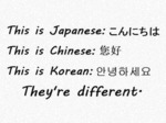 This Is Japanese This Is Chines