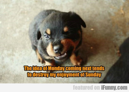 The Idea Of Monday Coming Next