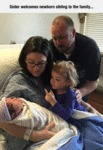 Sister Welcomes Newborn Sibling To The Family