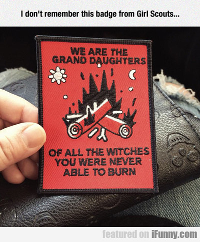 I Don't Remember This Badge From Girl Scouts...