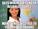 Says Wikipedia Is Not A Reliable...