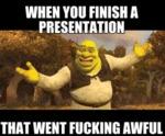 When You Finish Your Presentation...
