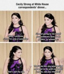 Cecily Strong At White House...