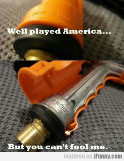 Well Played America...