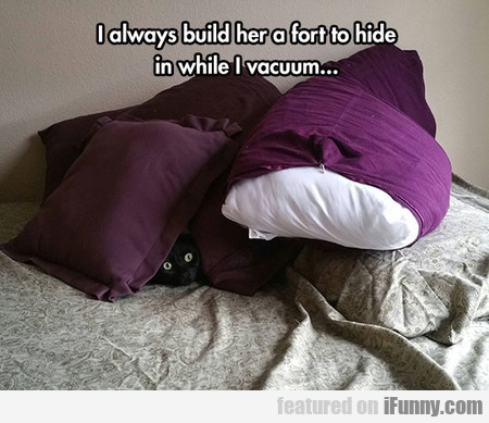 I Always Build Her A Fort To Hide In