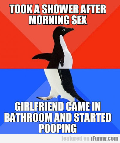 Took A Shower After Morning Sex...