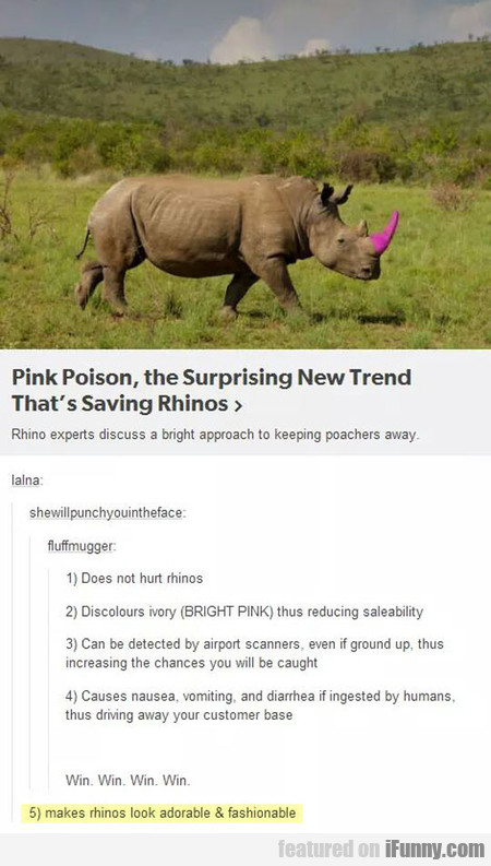Pink Poison, The Surprising New Trend
