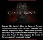 George Martin's Idea For Game Of Thrones