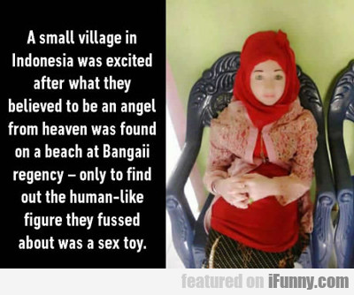 a small village in indonesia...