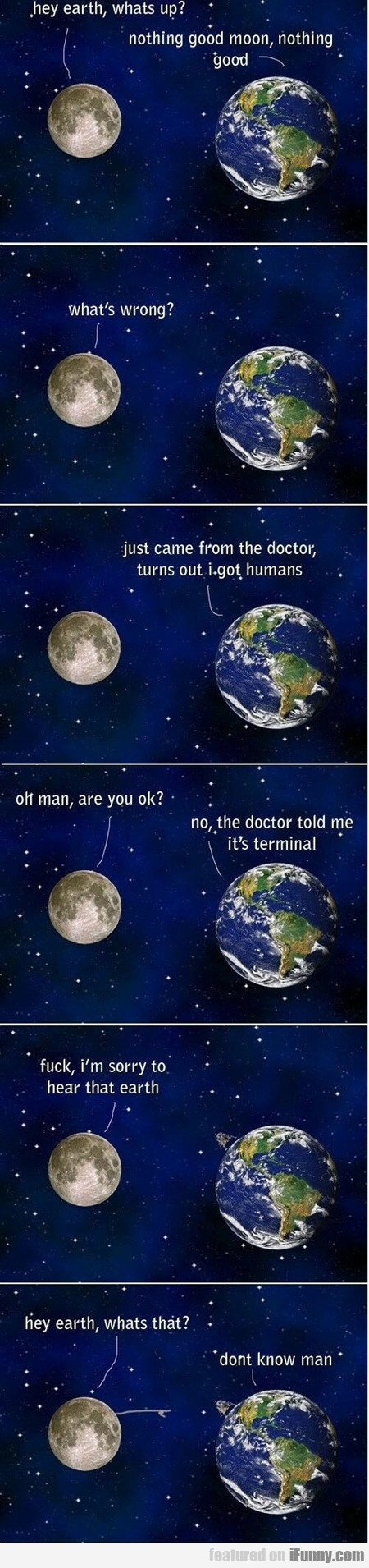 hey earth, what's up?