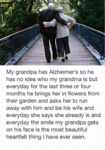 My Grandpa Has Alzheimer's So He Has No Idea
