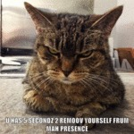 U Has 5 Secondz 2 Remoov Yourself...