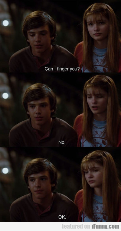 Can I Finger You?