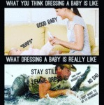 What You Think Dressing A Baby Is Like