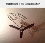 Tired Of Looking At Your Boring Ceiling Fan?