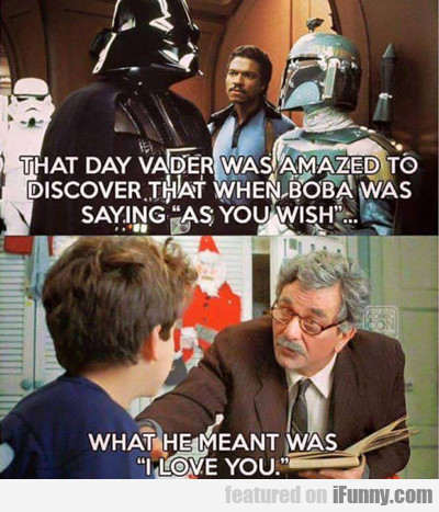 That Day Vader Was...