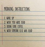 Morning Instructions...