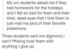 My Uni Students Asked Me If They Had Homework