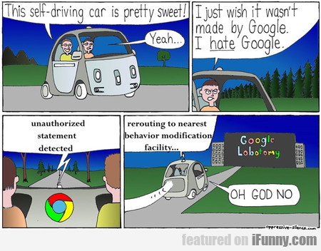 this self-driving car is pretty sweet