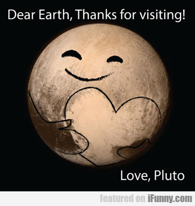 Dear Earth, Thanks For Visiting...