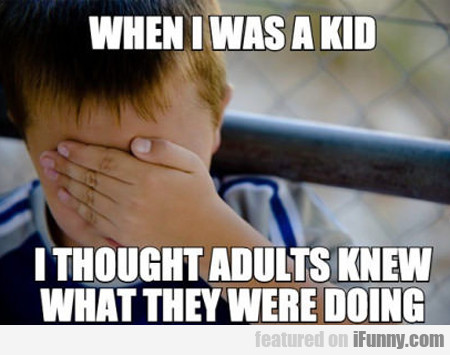 When I Was A Kid I Thought Adults Knew...