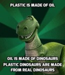 Plastic Is Made Of Oil...