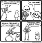 What's A Skeleton's Favorite Instrument