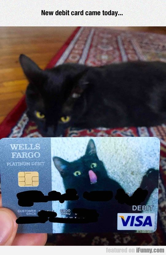 New Debit Card Came Today