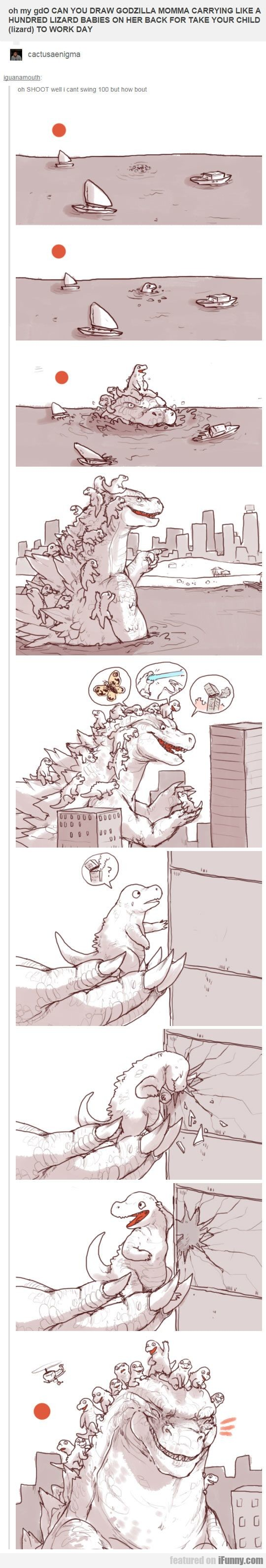 Can You Draw Godzilla Momma
