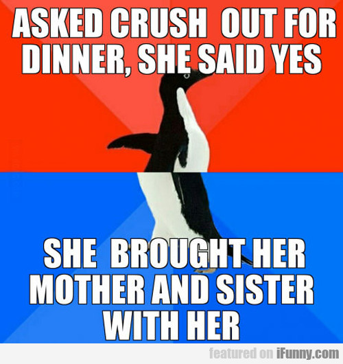 Asked Crush Out For Dinner...