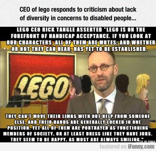 Ceo Of Lego Responds To Criticism