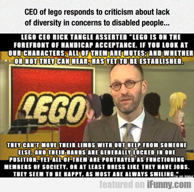 Ceo Of Lego Responds...