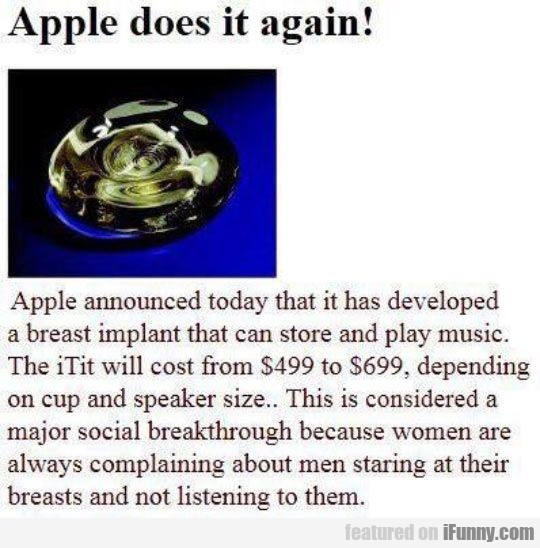 Apple Announced Today That It Has Developed