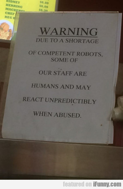 Warning: Due To A Shortage Of Competent...