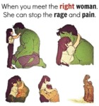 When You Meet The Right Woman...