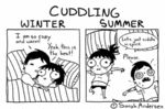 Cuddling In The Winter Vs Cuddling In The Summer