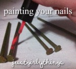 Painting Your Nails... Just Girl Things...