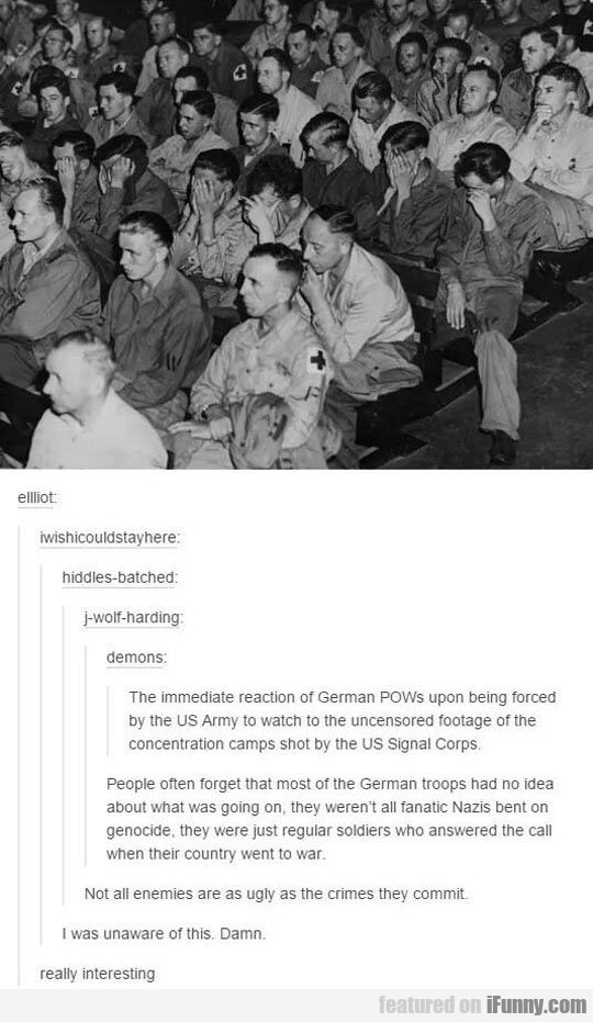 The Immediate Reaction Of German Pows