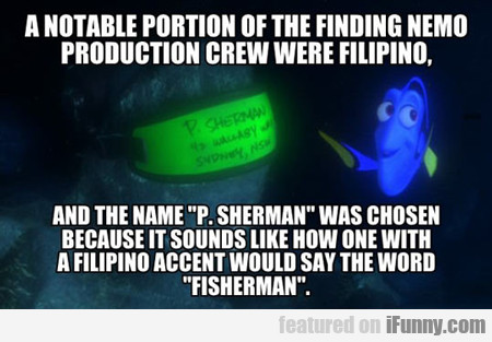 A Notable Portion Of Finding Nemo...
