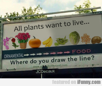 All Plants Want To Live...